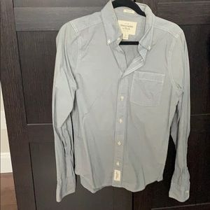 Abercrombie and Fitch Grey Plaid dress shirt